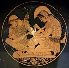 Achilles, heal my wounds! (Vase Image: Achilles Heals Patroklos)