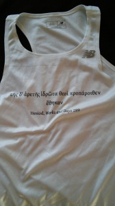 Actual Shirt Worn During Marathon