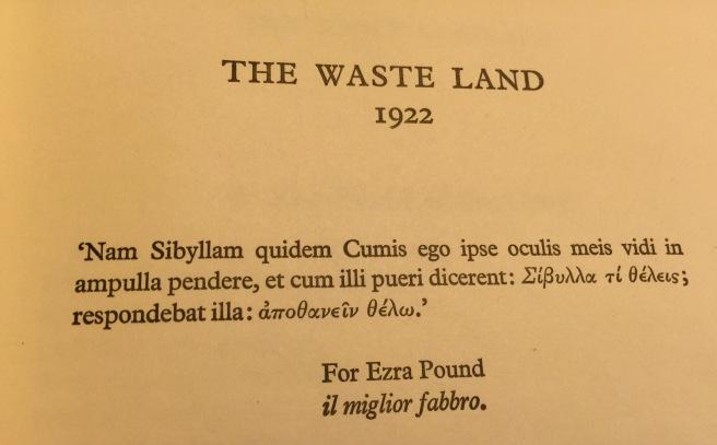 Waste Land intro