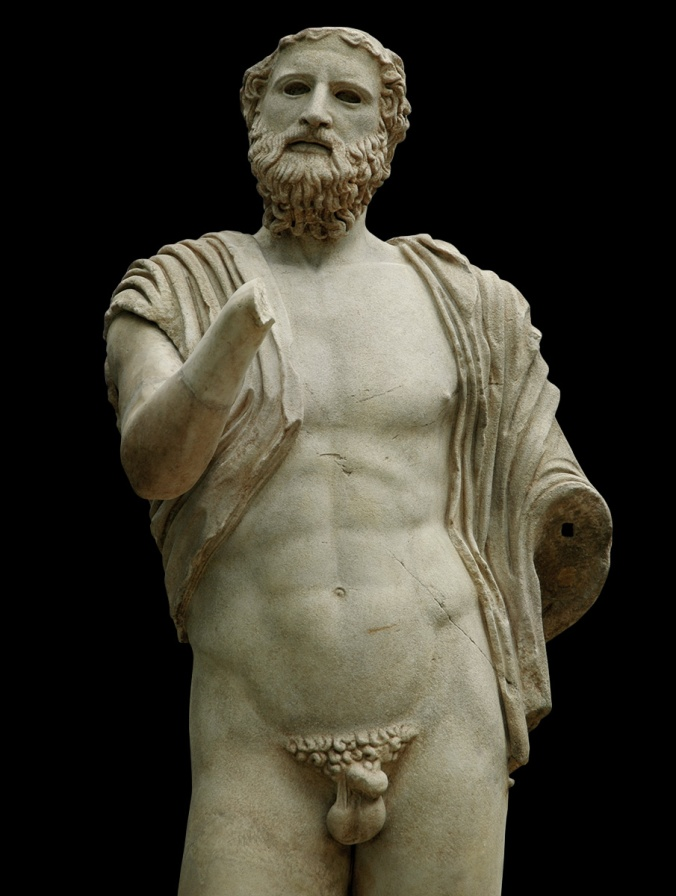 Anacreon. Marble. Roman copy of the 2nd century A.D. after a Greek original of the 5th century B.C. Inv. No. 491. Copenhagen, New Carlsberg Glyptotek.