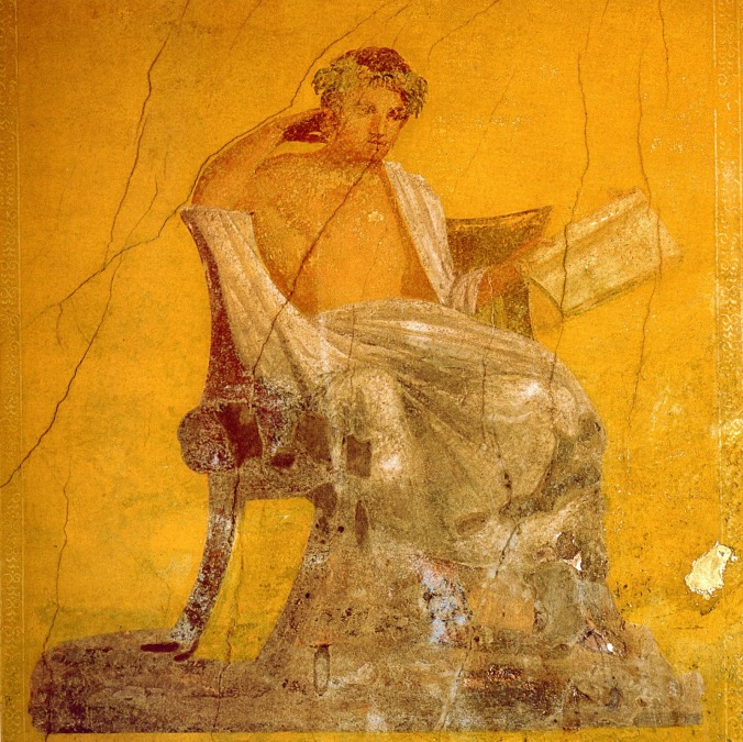 Image result for Ancient Greek and Roman Reading fresco