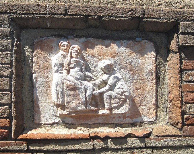 Image result for Ancient Roman birth scene