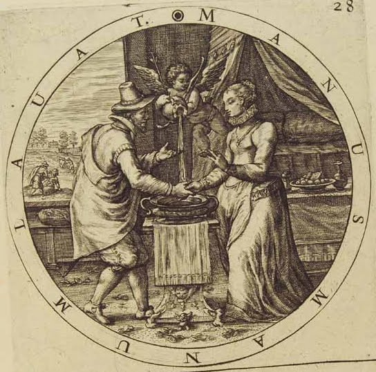 Image result for manus manum lavat