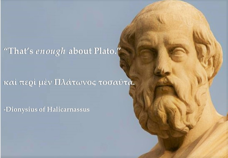enough about plato