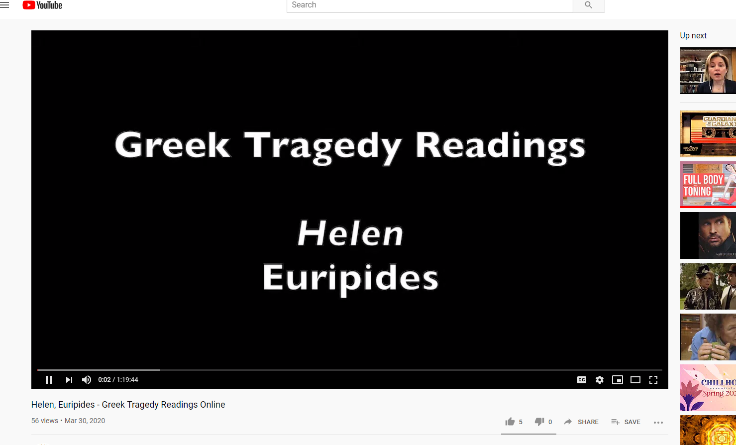 Tragedy readings