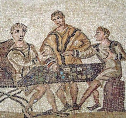 Mosaic of Gamblers